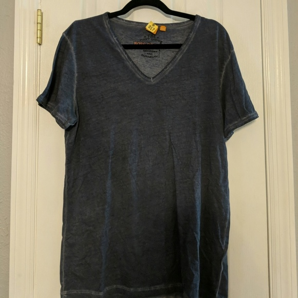 Mens Hugo Boss cotton v neck t shirt in toulouse